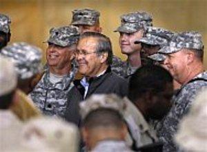Rumsfeldwithtroops
